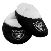 Oakland Raiders Official NFL Baby Bootie Slippers