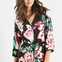 Women's KENDALL + KYLIE at Topshop Floral Print Romper,