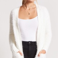 Eyelash Knit Longline Cardigan