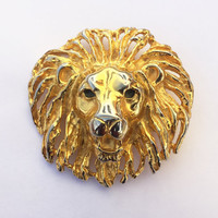 90s Belt Buckle Lion Belt Buckle Lion Pendant Vintage Lion Vintage Gold Lion Vintage 90s Belt Buckle Vintage 90s Pendant Lion Face Lion Face
