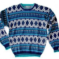 Shop Now! Ugly Sweaters: Vintage 80s Tacky Ugly Cosby / Ski Sweater Men's Size Large (L) - Deadstock (New) $22 - The Ugly Sweater Shop