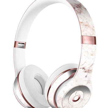 Pale Pink Marble Surface Full-Body Skin Kit for the Beats by Dre Solo 3 Wireless Headphones