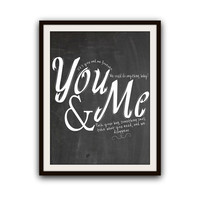 Dave Matthews Band Romantic Music Typography Poster Print