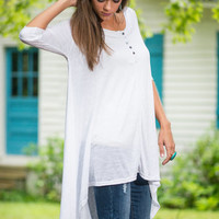 Simple Satisfaction Tunic, White