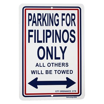 Philippines Metal Parking Sign