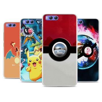 BiNFUL Pokemons Eevee Pokeball hard White Cellphone Case for Xiaomi Mi A1 6 5s Note3 for Redmi 5 5X 5A 4 4X Note4 4X