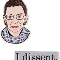 Ruth Bader Ginsburg & I Dissent Enamel Pin Set - OUT OF STOCK UNTIL 2019