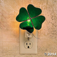 Stained Glass Shamrock Night-Light