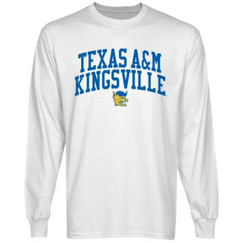 Texas A&M Kingsville Javelinas Team Arch Long Sleeve T-Shirt - White