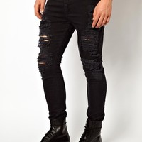 ASOS Super Skinny Jean With Extreme Rips
