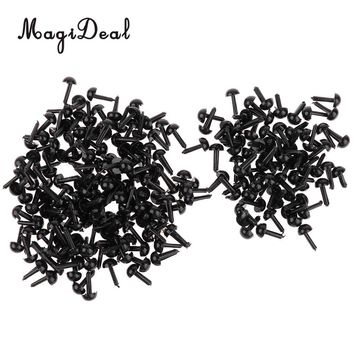 200 Pieces Black Plastic Safety Eyes for Teddy Bear Doll Plush Animal Toys Card Making Home Decor Crafts