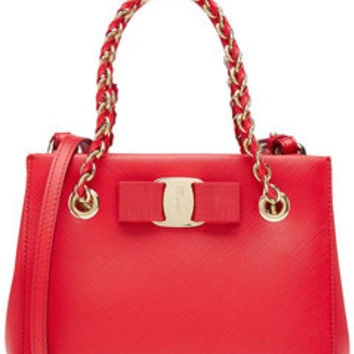 Mini Leather Shoulder Bag - Salvatore Ferragamo | WOMEN | US STYLEBOP.com