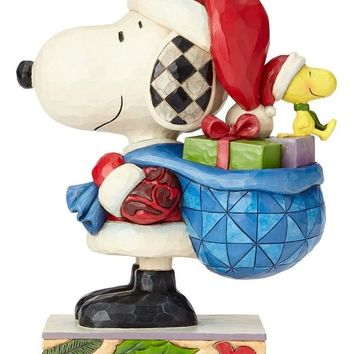 Peanuts by Jim Shore Santa Snoopy and Woodstock - 4057672