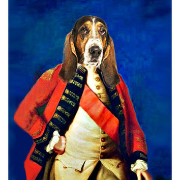 The General - Custom Renaissance Cat/Dog/Pet Portrait - Digital personalized portrait painting using your pets Photo