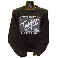 University of Maryland Terps Retro Turtle Grey Framed (Black) / Crew Sweatshirt