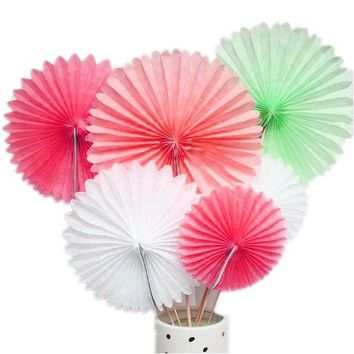 Tissue Paper Pinwheels Hanging Party Decoration