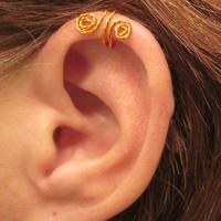 "No Piercing ""Twist It Up"" Ear Cuff for Upper Ear 1 Cuff - Color Choices"