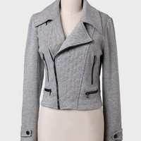Alexandra Quilted Moto Jacket