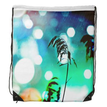 Blue Grass Drama Sparkle Drawstring Backpack