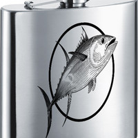 Visol Prize Fish Stainless Steel 7oz Hip Flask