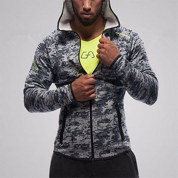 Mens Hoodies Hot Sale 2017 Fitness Brand Long Sleeve Bodybulding Shark Zipper Sweatshirts Gyms Muscle Fit Clothes Hooded Jackets