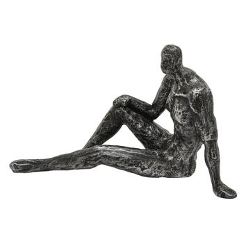 Three Hands Sitting Man Figure -- 10-1/2-in