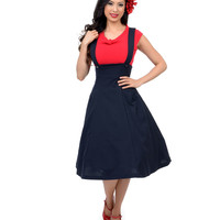Navy Circle Skirt Jumper