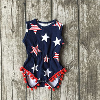 FOURTH OF JULY SUMMER GIRLS ROMPER!! SO ADORABLE!!