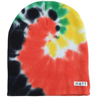 Neff Mens '13 Hippie Beanie Hat, Rasta, One Size