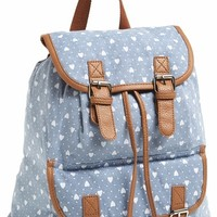 Amici Accessories Heart Print Backpack (Juniors) (Online Only)