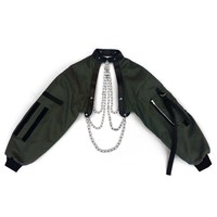 CHAIN CHOKER BOMBER ARMY GREEN
