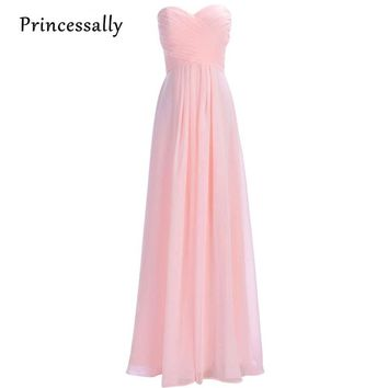 Blush Pink Bridesmaid Dresses Long Chiffon Off the Shoulder Sweetheart Dress to Party A-Line Sexy Prom Gown Vestido De Festa