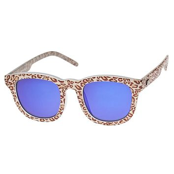 Le Specs Noddy Leopard & Ice Blue Sunglasses