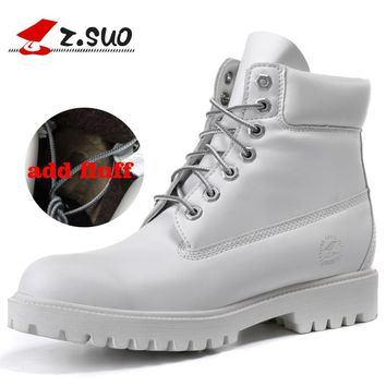 Z. Suo men's boots, the new autumn and winter high fashion vintage boots, Winter to add fluff warmth tendon soles 10061M