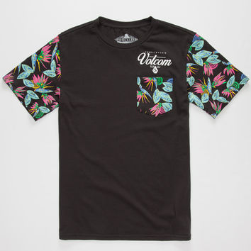 Volcom Florent Mens Pocket Tee Black  In Sizes