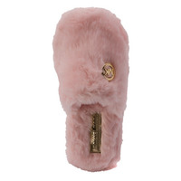 MICHAEL Michael Kors Jet Set MK Fur Slippers | Women's - Pink