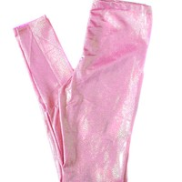 Pink Holographic High Waisted Leggings