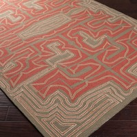 Surya Labrinth LBR-1008 Terra Cotta / Frappuccino / Pecan Area Rugs