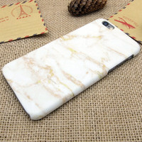 Vintage White Gold Marble Stone iPhone 5se 5s 6 6s Plus Case Cover + Nice Gift Box 271