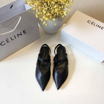 CELINE Celin 2018 spring new star net red with the same single shoes black