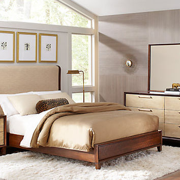 Sofia Vergara Cimmaron Champagne Brown 5 Pc Queen Panel Bedroom