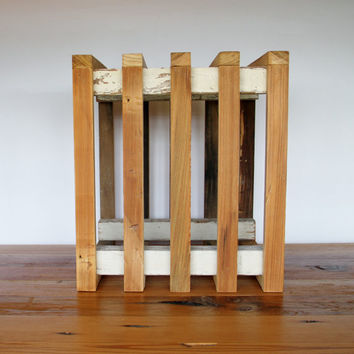 Crate, New Orleans Reclaimed Wood, Cypress and White Antique Heart Pine Spindles by RestorationHarbor