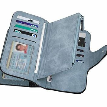 Rfid Blocking Soft Handy Clutches Wallet Purse Cards Holder Organizer For Women Lady Girl MultiPocket