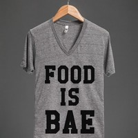FOOD IS BAE V-NECK T-SHIRT ID71332