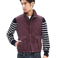 Banana Republic Mens Diamond Quilted Vest