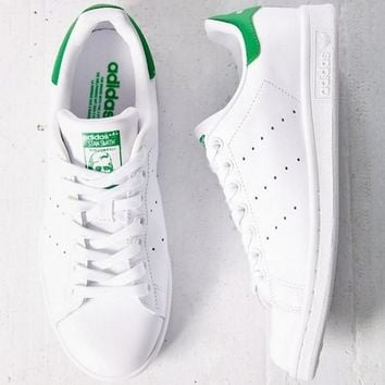 Unisex Men & Women Casual Sport Print Adidas Stan Smith Shoe GREEN Higher Quality