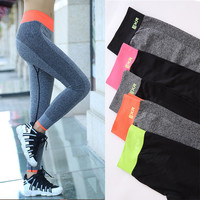 Slim Sports Quick Dry Yoga Pants Outdoors Jogging Gym Cropped Pants [9437023181]