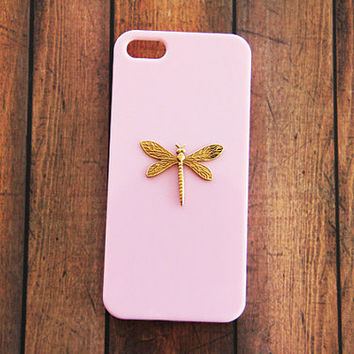 Insect iPhone 6 Plus Cases Dragonfy Galaxy S3 Dragonfly iPhone 6 Plus Galaxy S4 Pink iPhone 5 5s Pink Case iPhone 4s Pink iPhone 5c Gold