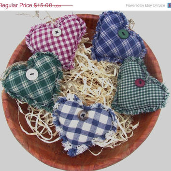 Christmas in July  Sale Country HEART BOWL FILLERS, Handmade Primitive, Rustic, Shabby Chic, Cottage Chic, Scented in Lavender, Vanilla, or