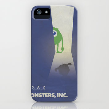 Monsters Inc. Walt Disney Alternative Movie Poster iPhone & iPod Case by Stefanoreves